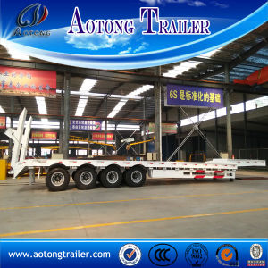 80 Tons Low Bed Trailer, 4 Axle Low Flatbed Semi Trailer pictures & photos