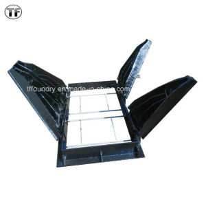 Locking Casting Iron Square Triangular for Watertight Manhole Cover and Gratings En124 pictures & photos