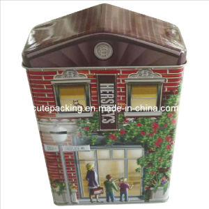 FDA Approved House Shaped Candy Tin Box (CT11)