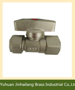 Plating Full Port Pex Brass Ball Valve with T Handle
