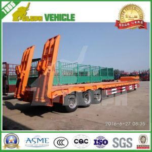 Low Loading Deck Lowbed Trailer Transport Heavy Machine pictures & photos