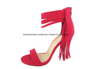 Three Colors New Arrival Fashion Women High Heel Lady Shoes with Lace pictures & photos