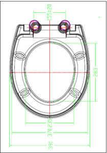 Urea Material New Style White Toilet Seats pictures & photos