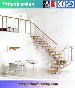 Straight Steel Wood Staircase pictures & photos