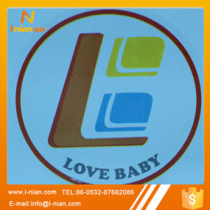 Logo Print Round Transparent Stickers
