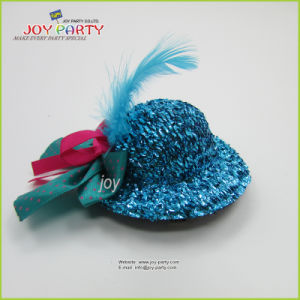 Turquoise Hair Clip Mini Hat pictures & photos