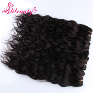 Wholesale Natural Black Natural Wave Virgin Human Mongolian Hair pictures & photos