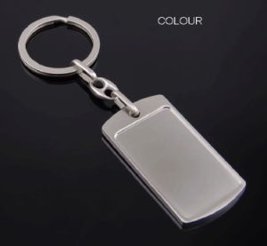 Metal Square Baggage Claim Tag Key Chain pictures & photos