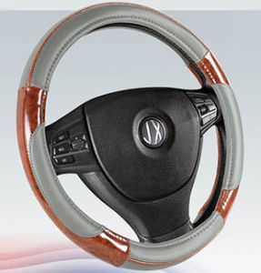 PVC with PU Steering Wheel Cover (BT7317D) pictures & photos
