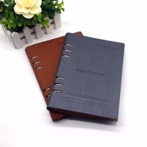Hardcover Spiral Note Book Engraved Notebook Leather Leather Bound Personalized Journal pictures & photos