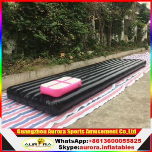 Customized Black Inflatable Air Gym Mat for Kids Gym Training