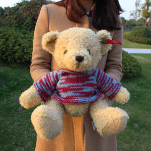 Free Shipping Brand Russ Stuffed and Plush Teddy Bear Toy with Sweater, Can Be Customized, 30cm, 1PC