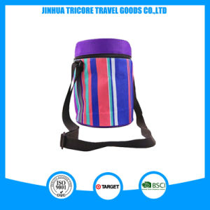 Popular Insulated Round Stripe Cooler Picnic Bag for Drink and Food pictures & photos