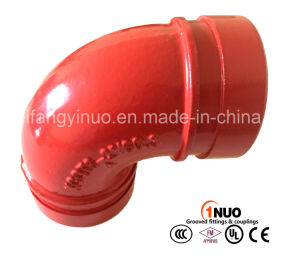 UL/FM Approval Ductile Iron Grooved Elbow 90 Degrees 300 Psi pictures & photos