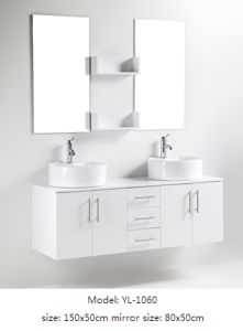 Sanitary Ware Double Sink Hotel Furniture with Mirror