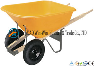 6 Cubic Foot Poly Wheelbarrow with Dual Wheels pictures & photos