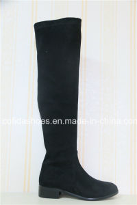 Elegant Winer Long Rubber Ladies Boots pictures & photos