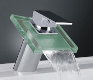 Tempered Glass LED Wasserhahn Basin Mixer