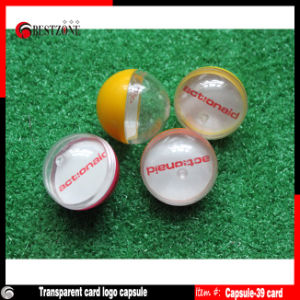 Plastic Capsules with Logo Inside for Promotion or Gifts pictures & photos