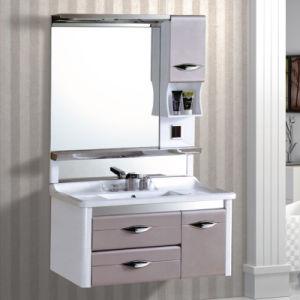 Plastic Waterproof PVC Bathroom Cabinet (Modern Design) pictures & photos