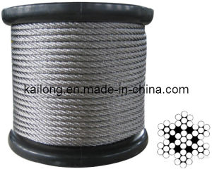 Dia. 5.0mm- Stainless Steel Wire Rope; Constr. 7X7; T/S: 1770mpa pictures & photos