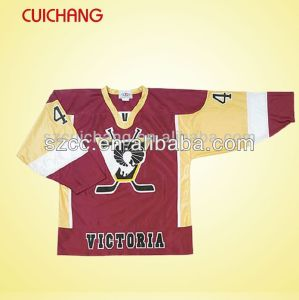 Wholesale Polyester Heat Transfer Printing Custom Design Ice Hockey Wear, Team Hockey Wear Bqf-007 pictures & photos