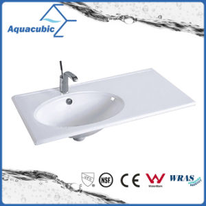 One Piece Bathroom Basin and Countertop Sink (ACB7880) pictures & photos