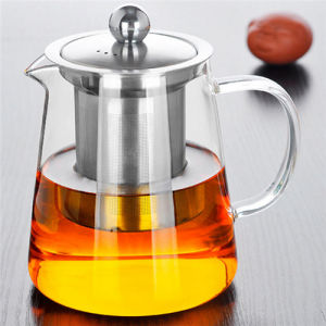 High Alkali Resistance 450ml Glass Teapot with Infuser