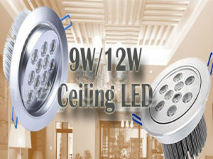 9W 12W Ceiling LED Light, Downlight Bulbs (HRLEDCE09W)