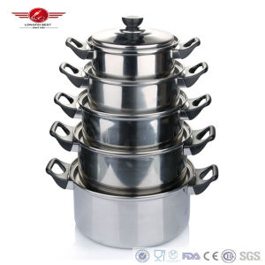 Stainless Steel Steamer Pots with Hands-Protected Handle pictures & photos
