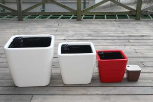 Plastic Self-Watering Flower Pot (FO-1303) pictures & photos