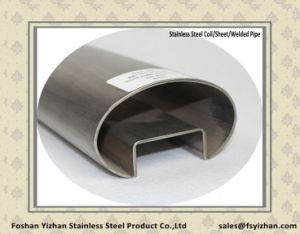 Oval-Shaped Stainless Steel Balustrade Single Slotted Tubing pictures & photos