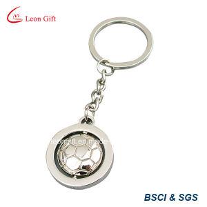 Custom Metal Football Shape Rotatable Trolley Keychain Wholesale pictures & photos