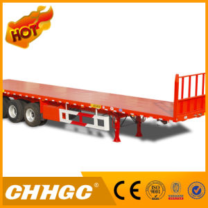 High Quality Flatbed Semi-Trailer with 1200mm Front Frame pictures & photos