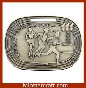 Antique Sliver Metal Sport Medal