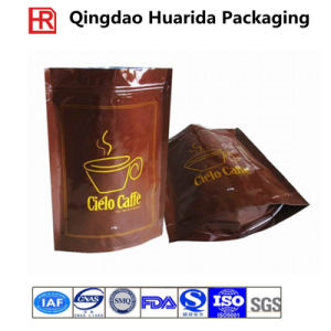 Customized Plastic Zipper Coffee Packaging Bag with Colorful Printing pictures & photos