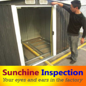 Garden Shed Quality Control Inspection in China pictures & photos
