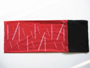 Factory OEM Produce Custom White Logo Printed Red Polar Fleece Multifunctional Headband pictures & photos