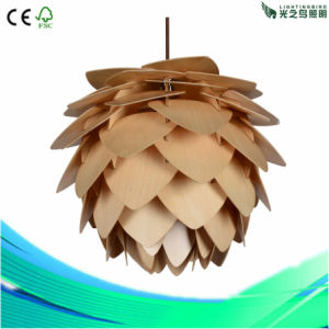 Fashion Decoration Home Lighting Desk Wood Pendant Lamp (LBMP-BL450)