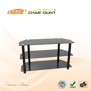 Economical Tempered Glass TV Stand Glass (CT-FTVS-K202BS) pictures & photos