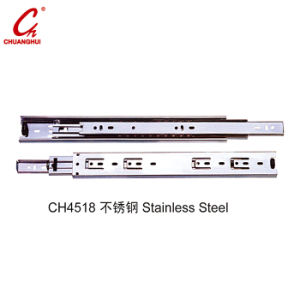 Stainless Steel Hardware Accessories Cabinet Drawer Slider (CH4518) pictures & photos