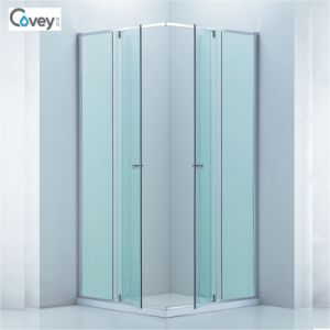 Sliding Shower Enclosure with Adjustable Frame/Customized Glass Door (3-Cvs048) pictures & photos