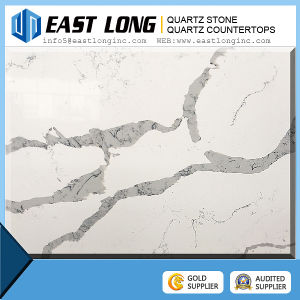 2016 New Polished Calacatta Surface Quartz Stone, Artificial White Quartz Stone Countertops pictures & photos