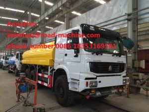 ISO 20m3 Water Tanker Truck 336HP 6X4 Sinotruk HOWO Optional Pipe