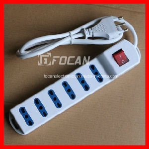 6 Outlet 16A 250V Italy Power Strip Extension Socket with Switch pictures & photos