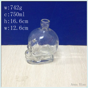 750ml Skull Glass Wine Bottles with Factory Price pictures & photos