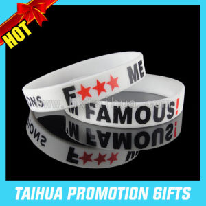 Promotion Printing Silicone Bracelet Rubber Bracelet (TH-08841) pictures & photos