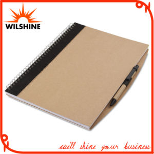 A4 Size Custom Kraft Paper Cover Spiral Notebook for Wholesale (SNB103) pictures & photos