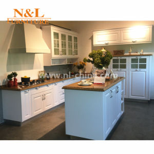 N&L Classic MDF White PVC Kitchen Cabinet pictures & photos
