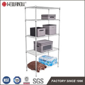Hot Sale Mexico Market 5-Tier 120kg Middle Duty Chrome Wire Shelf Shelving pictures & photos